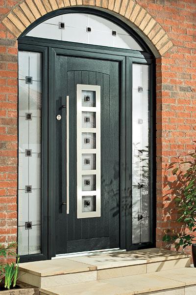 Composite door with bar handle & Composite Doors in NI \u0026 Dublin | Turkington Windows