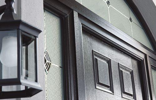 Composite door frame