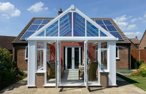 A white conservatory installed by Turkington