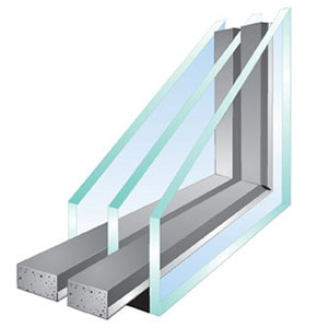 Energy efficient triple glazing