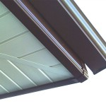 Soffits with brown guttering