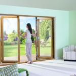 Oak coloured bifold doors