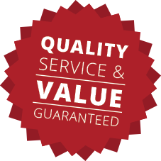 Quality, Service & Value Guaranteed