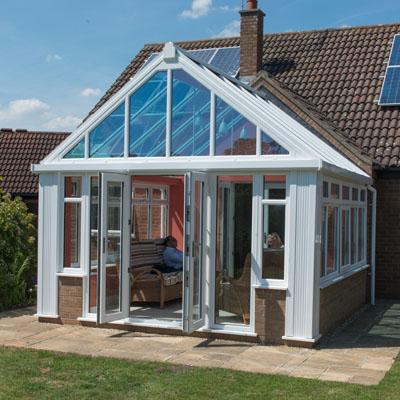 white upvc conservatory