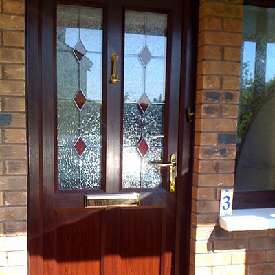 Brown PVC entrance door