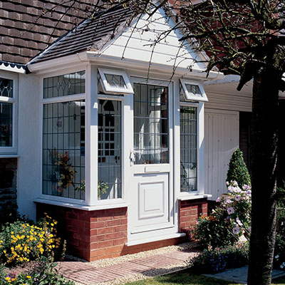 White PVC entrance door