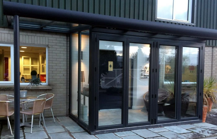 Portadown glazed extension showroom NI