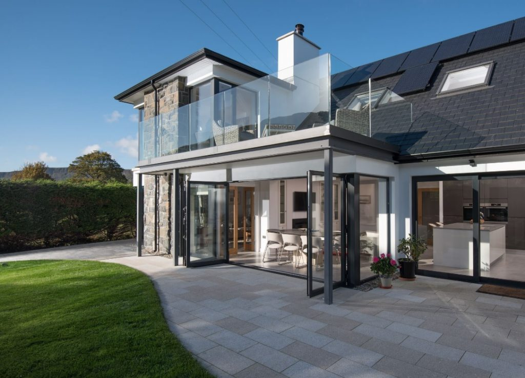 Modern and contemporary home with aluminium sliding doors