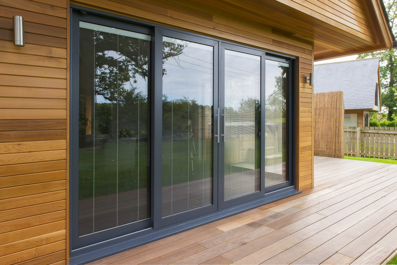Aluminium sliding patio doors turkington windows for Patio doors folding sliding