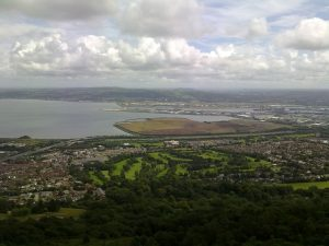 Belfast city from above