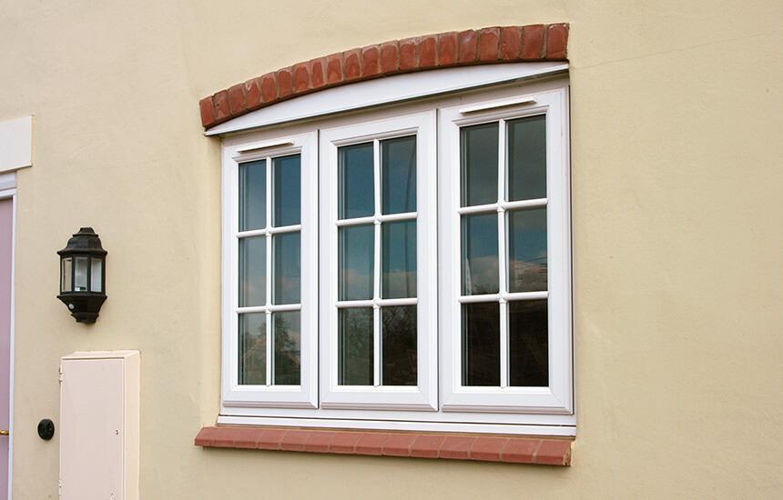 White uPVC casement window