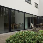 Black aluminium lift and slide doors