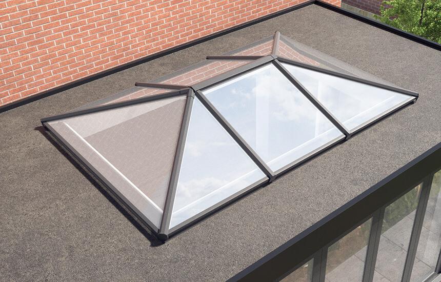 Black lantern roof installation