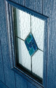 Composite door stained glass