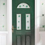 Dark green traditional composite door