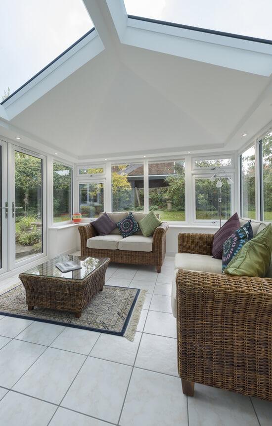 Edwardian sunroom interior view