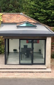 Garden room installation
