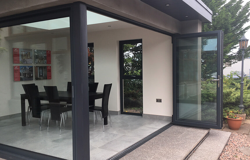 Garden Room with a bifold door