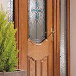 Oak effect traditional composite door
