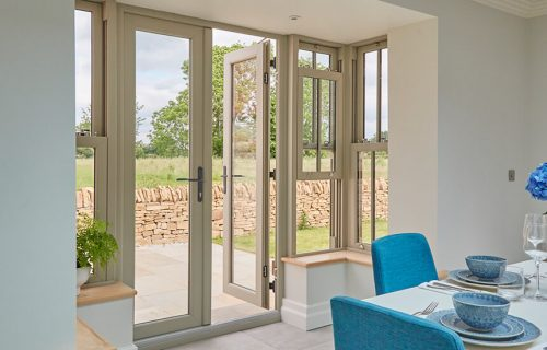 uPVC french door interior view