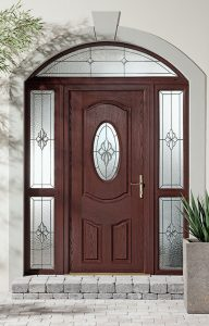 Rosewood traditional composite door