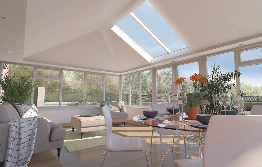 Sunroom interior view