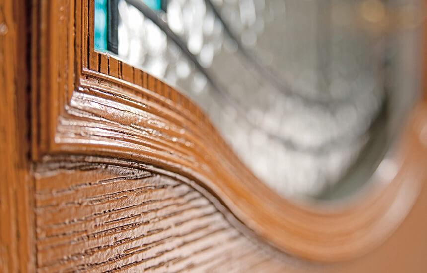 Traditional composite door close up