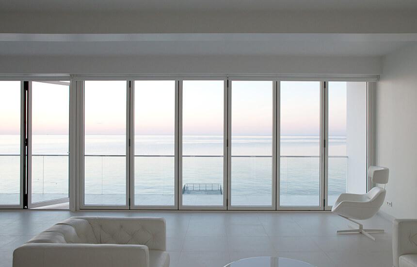White Aluminium Bifold Door Turkington Windows