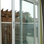 White uPVC patio door close up
