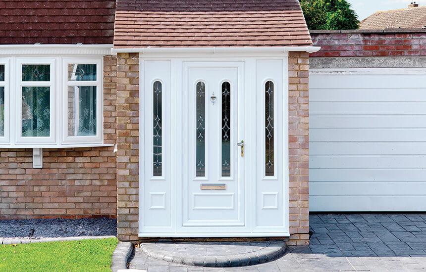 White Upvc Front Door Turkington Windows