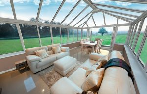 White uPVC conservatory interior view