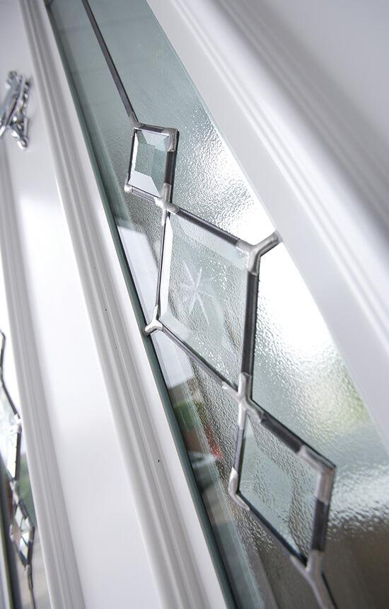 White uPVC front door and glazing
