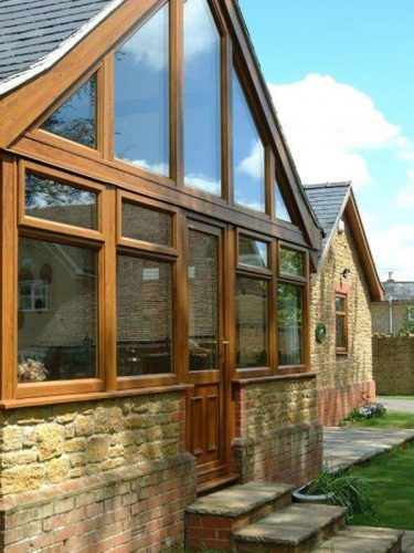 Timber Effect Window Installation