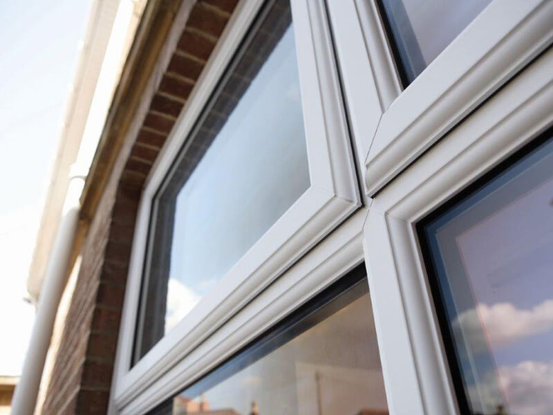 White casement windows