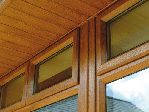 Window installation close-up