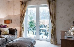 French door interior with tradtional decor