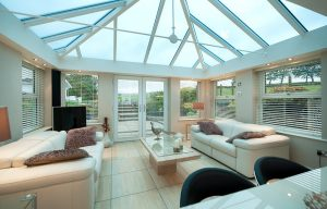 Loggia conservatory inside with modern decor