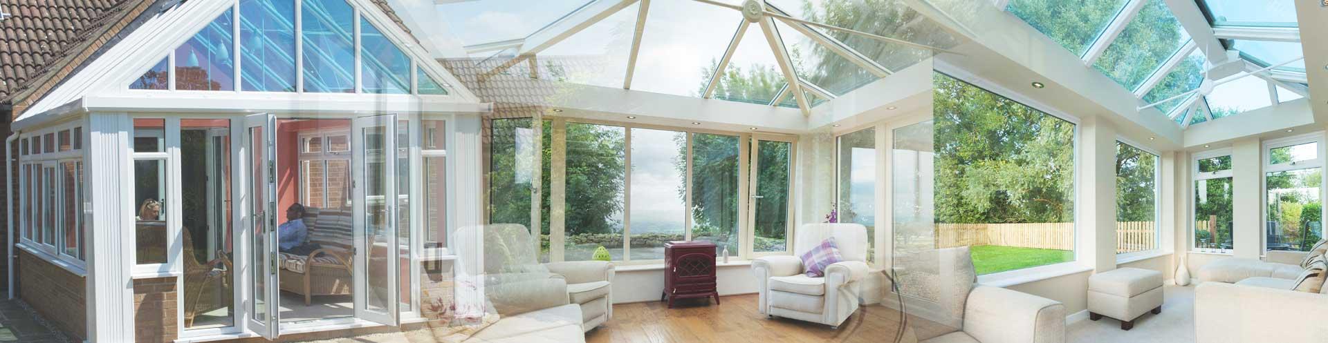 Conservatory roof split image