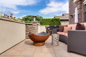 garden furniture on a patio
