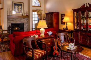 Antique furniture in a family room