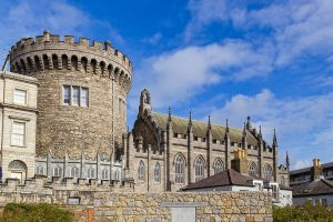 Dublin castle blue sky