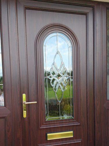 Brown uPVC Entrance Door