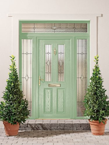 Green Entrance Door