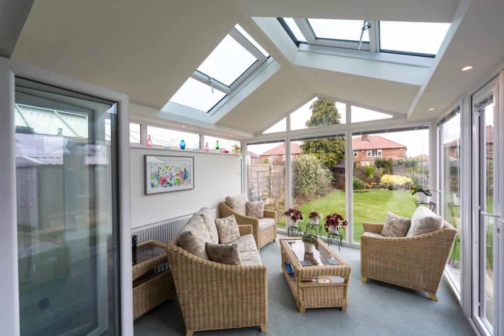 UltraRoof interior roof with glazing