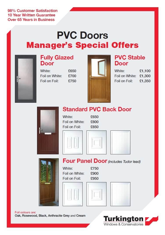 PVC Manager's Specials 2020 Doors