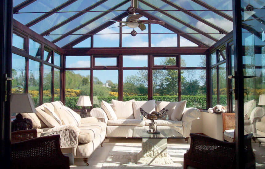 Rosewood uPVC gable conservatory
