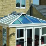 White ultraframe conservatory built with planning permission.