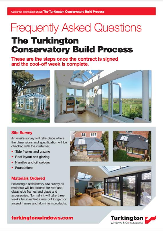 FAQ build process conservatories brochure cover
