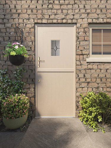Cream composite stable door.